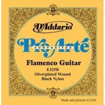 D'Addario EJ25B Pro-Arte Composite Flamenco Black Nylon (Custom Tension)