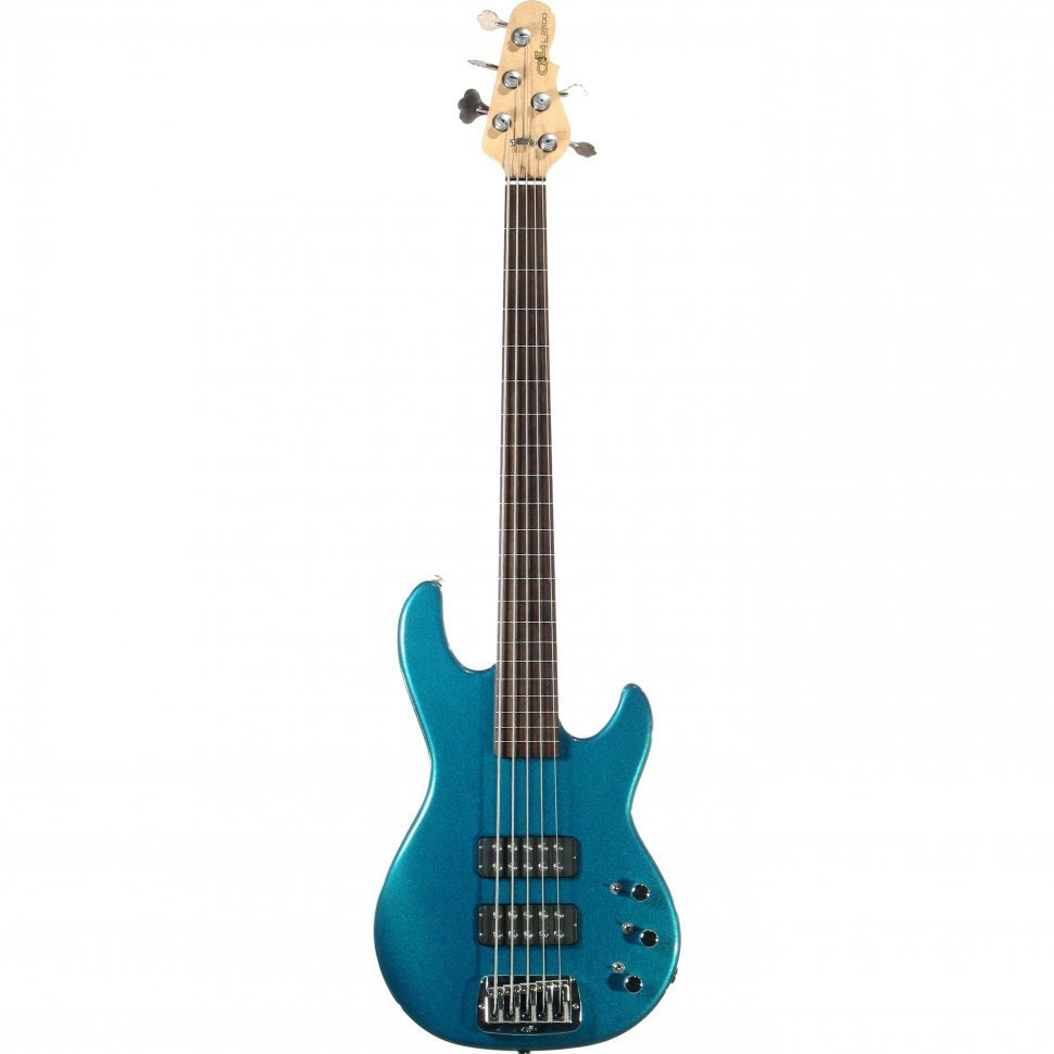 Бас-гитара G&L L2500 FIVE STRINGS (Emerald Blue, Ebony, Fretless)