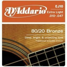 D'Addario EJ10 Bronze 80/20 Extra Light (10-47)