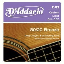 D'Addario EJ13 80/20 Bronze Custom Light (11-52)