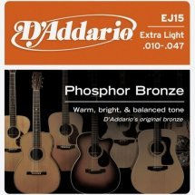 D'Addario EJ15 Phosphor Bronze Extra Light (10-47)