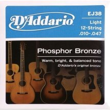 D'Addario EJ38 Phosphor Bronze Light 12-String (10-47)