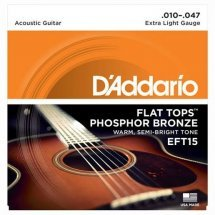 D'Addario EFT15 Flat Tops Extra Light 10-47