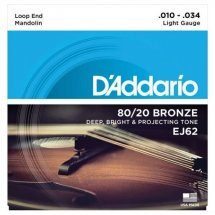 D'Addario EJ62 Mandolin 80/20 Bronze Light (10-34)