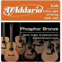 D'Addario EJ41 Phosphor Bronze Extra Light 12-String (9-45)
