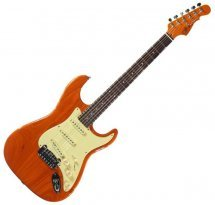 G&L LEGACY (Clear Orange, rosewood, 3-ply Vintage Creme)