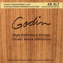 Godin 008988 A6 XLT - Strings Acoustic Guitar XLT Phos Bronze