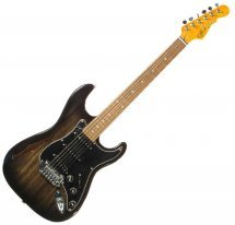 G&L LEGACY Semi-Hollow (Blackburst, 3-ply Black, rosewood)