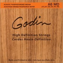 Godin 009336 A6 MD - Strings Acoustic Guitar MD Phos Bronze