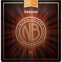 D'Addario NB1256 Nickel Bronze Light Top / Medium Bottom 12-56